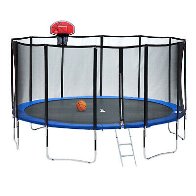 Exacme 15 FT Luxury Trampoline with Basketball Hoop 400 LBS Weight Limit, L15