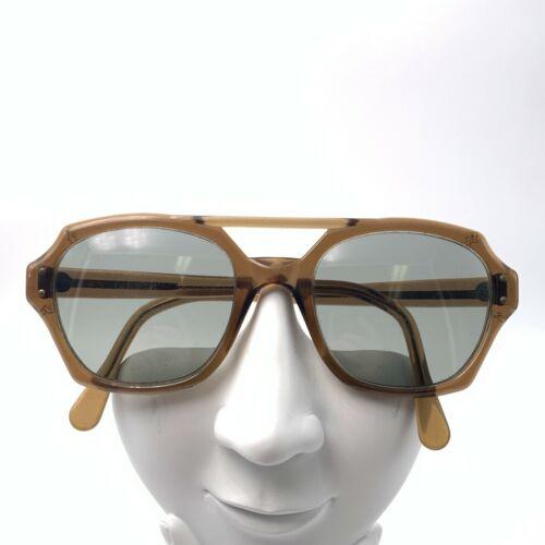 Vintage PI Z87 Brown Aviator Sunglasses Frames USA