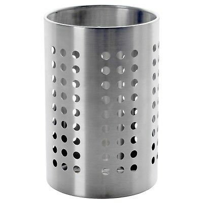 IKEA ORDNING Stainless Steel Large Kitchen 7 Utensil Caddy Cooking Tools Holder