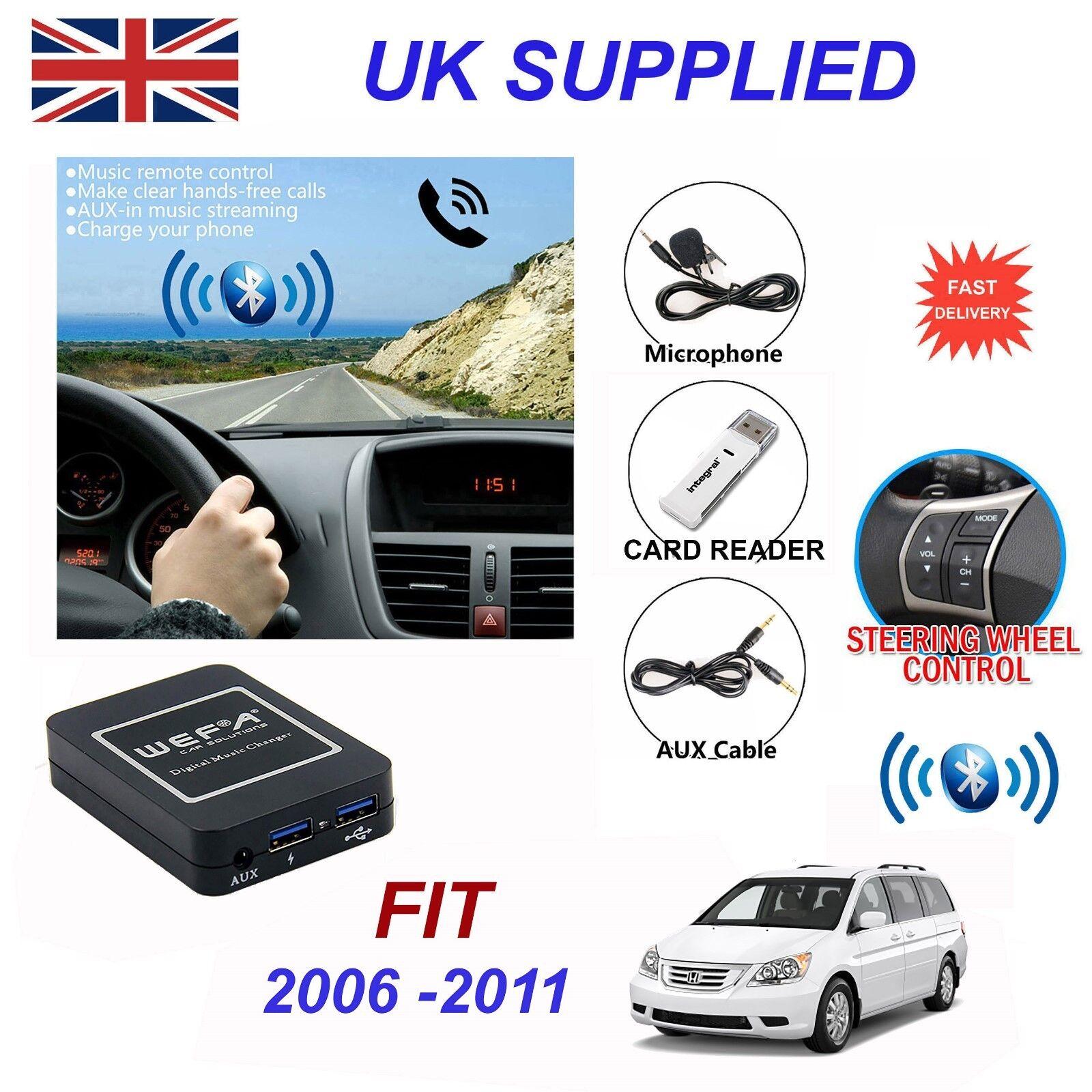 Honda Fit Bluetooth Hands Free Phone AUX Input MP3 2xUSB Charger Module 2.4