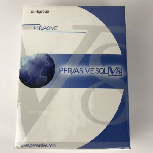 Pervasive SQL V8 Software 2002 Sealed Workgroup Data Management