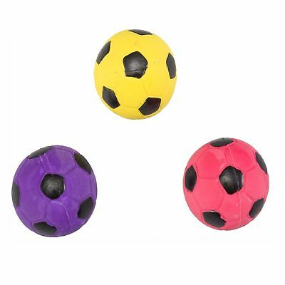 Ethical Pet Spot Soccer Ball 2 inch   Colorful Latex Squeaker Dog Toy