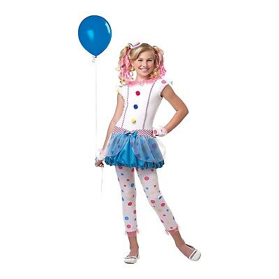 Child Tween Girl's Dotsy the Clown Costume Dress Halloween Large XL 10/12 - Tween Clown Costume