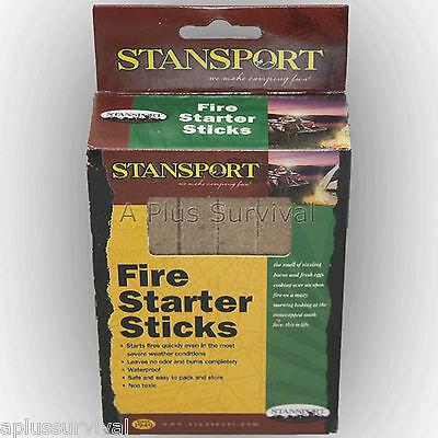 12 Pack of Waterproof Fire Starter Sticks Camping Survival E