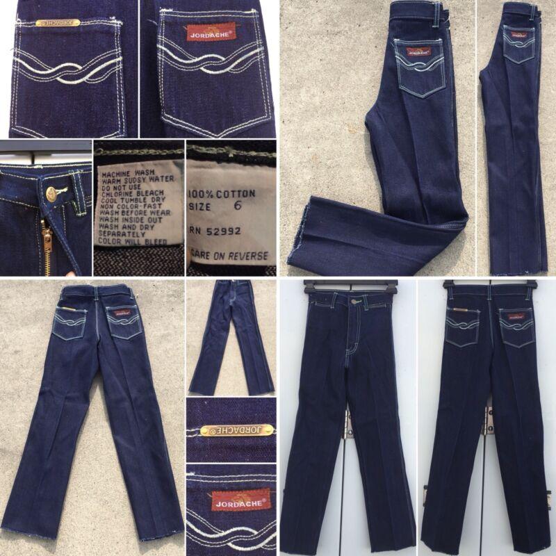 Vintage Jordache Jeans High Waist Girls 6 1970s 1980s 70s 80