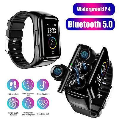 2 in 1 smart watch touch earphone
