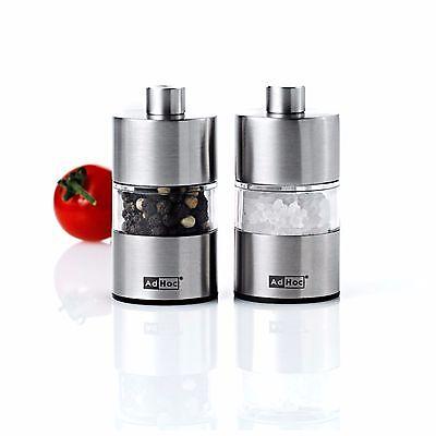 AdHoc Stainless Steel Mini Salt & Pepper Mill Set