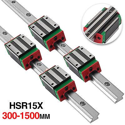Linear Guideway Rail Hsr15 300mm-1500mm 4 Square Blocks Hsr15ca