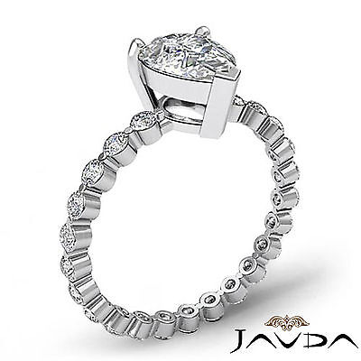 Pear Cut Diamond Engagement Prong Setting Anniversary Ring GIA F Color VS2 1.7Ct 1