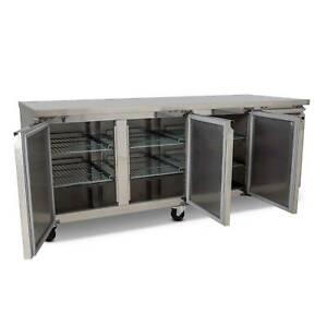 AG Three Door Commercial Worktop / Bench Fridge 580L