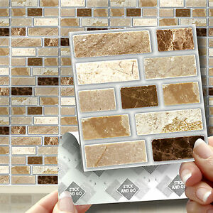 18 Peel Stick amp Go Stone Tablet Self Adhesive Wall Tiles