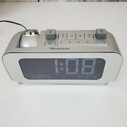 Brookstone TimeSmart Self Setting Dual Alarm With Projection Digital Alarm Clock