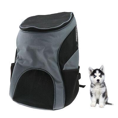 Pet Cat Dog Backpack Outdoor Double Shoulder Bag Carrier Ventilated Mesh NEW