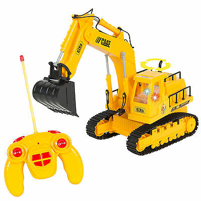 Remote Control  Rc Excavator Tractor Construction Truck 7 Channel Lights   Sound