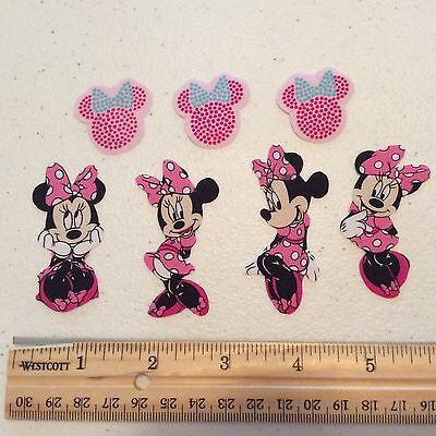 Disney Minnie Mouse Fabric Iron On Appliques - style #2 pink dress  Disney Iron On Appliques