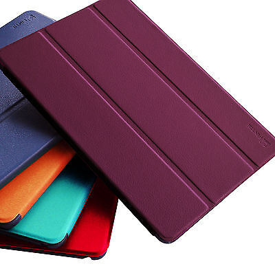 Slim Magnetic PU Leather Slim Cover For Apple iPad With Hard Back Case