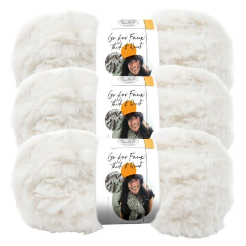 (3 Pack) Lion Brand Yarn 323-098AJ Go for Faux Thick & Quick Yarn, Baked Alaska