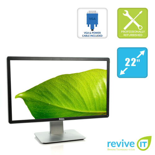 "Dell P2214H 22"" Widescreen IPS LED LCD Monitor FHD 1920x1080 DVI DP VGA Grade B"