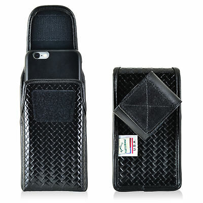 iPhone 6S Samsung S7 Police Pouch Belt Clip Case Basketweave Leather Turtleback