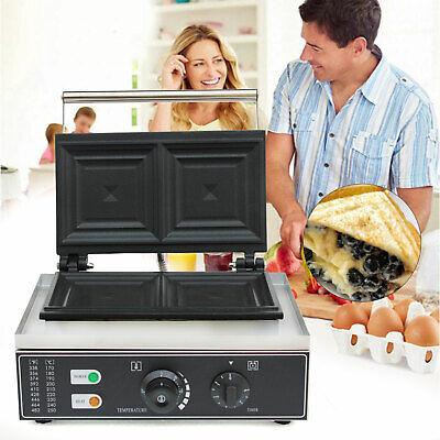 1500w 2-slice Commercial Electric Sandwich Maker Grill Bread Toaster Non-stick