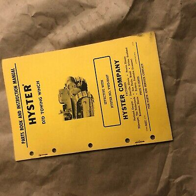 Hyster Winch Parts Catalog Instruction Manual D7d Cat Dozer Nice