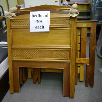 Ex Display Timber Single Bed Heads Frame Various Wood Wooden