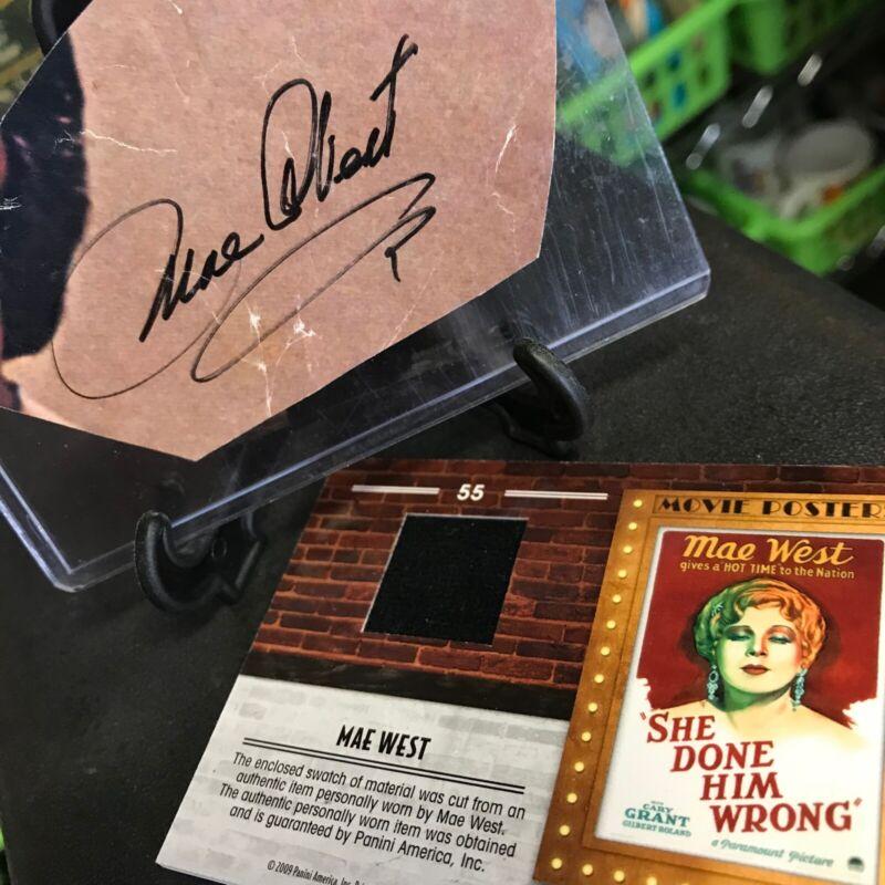 Legendary Mae West Signed Cut Autograph & Donruss Americana Relic Card /500