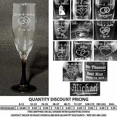 Personalized Toasting Flutes - Champagne Glasses Engraved Wedding Party Gifts - Engraved Wedding Flutes