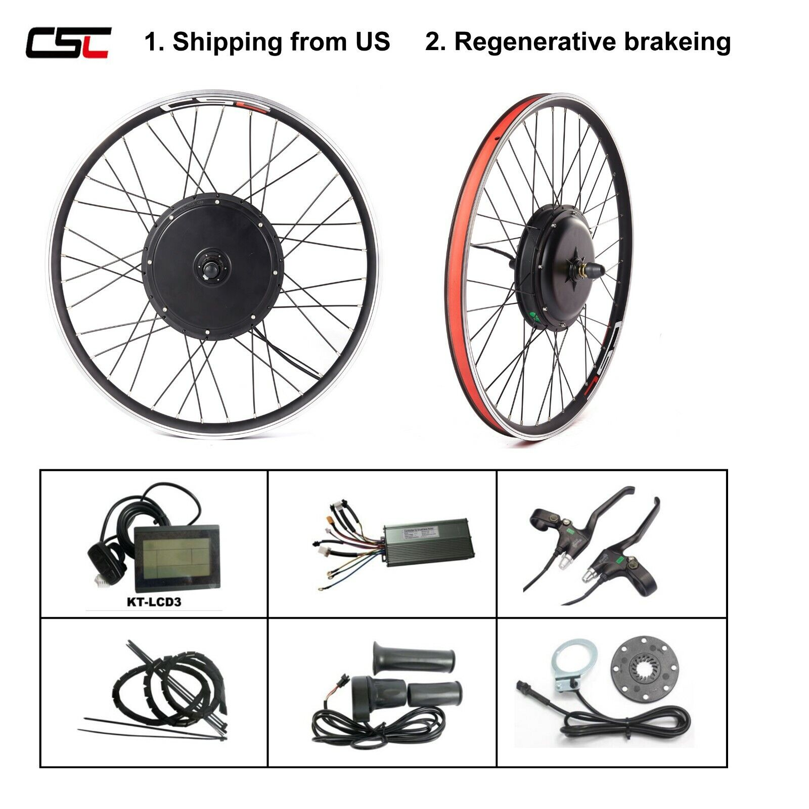 Shipping from US CSC electric bike kit 48V 1000W 1500W Ebike
