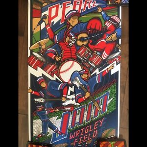 Pearl Jam authentic Klausen 2016 Wrigley Field poster