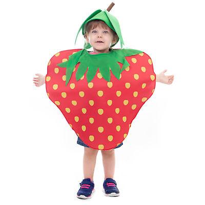 Kids Fruit Costume (Sweet Strawberry Children's Halloween Costume - Cute Fruit Suit &)