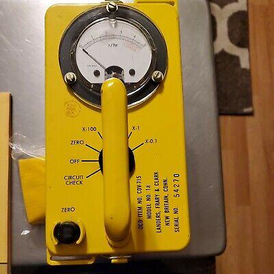 Landers Frary Clark High-level Radiation Meter Cdv-715 1a. Geiger Meter Nos