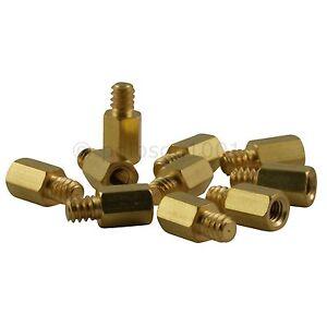 Pack-of-10-Brass-Motherboard-Standoff-6-32-x-M3-screws