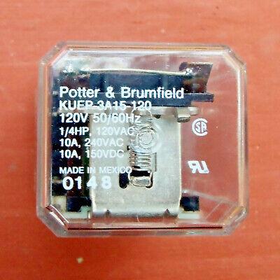 Potter Brumfield Kuep-3a15-120 Relay 120v