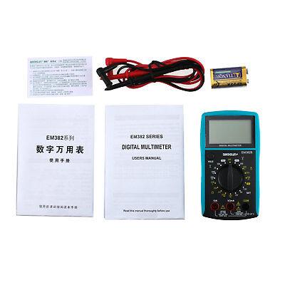 Digital Lcd Screen Multimeter Electrical Meter Diode Battery Tester Cat Ii 250v