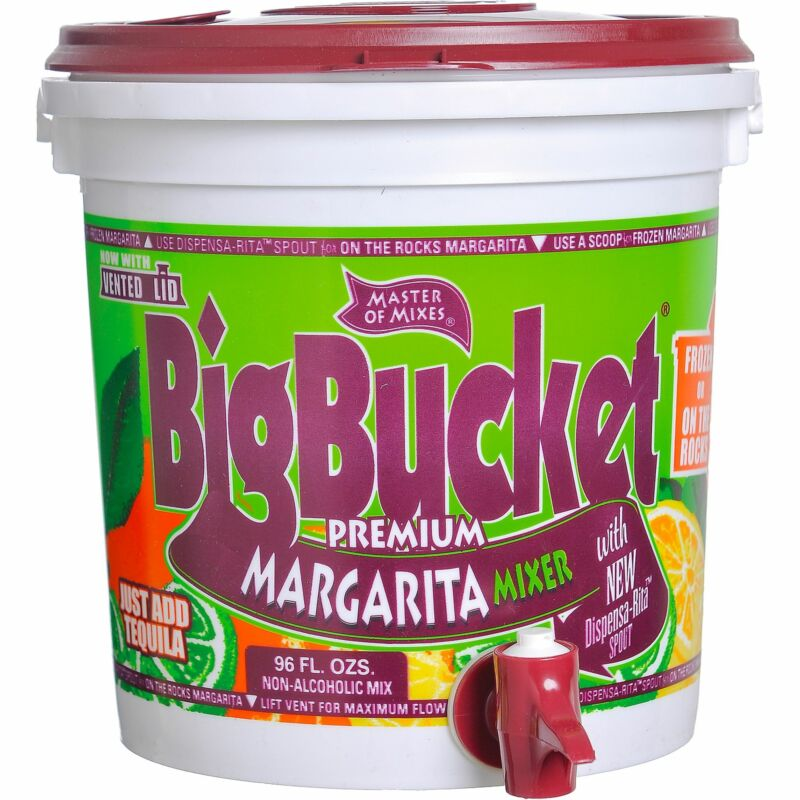Lime Mix Bucket Dispensers 96oz Cocktail and Margarita Mix Dripless Spout