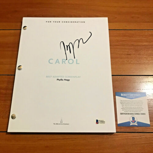 TODD HAYNES SIGNED CAROL FULL MOVIE SCRIPT SCREENPLAY w/ PROOF & BECKETT BAS COA