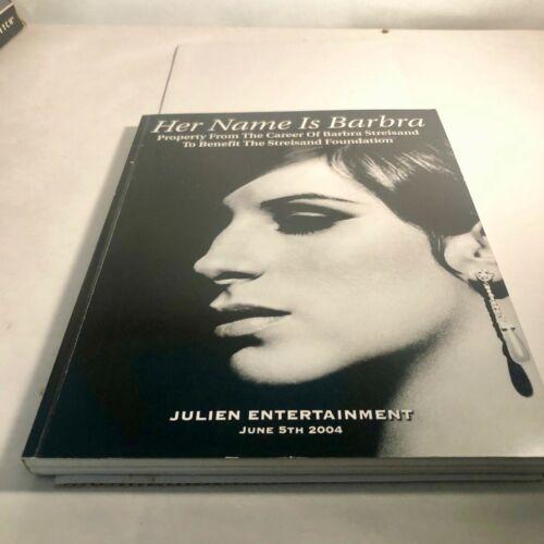 Barbra Streisand 2004 Julien Auction Catalog Her Name is Barbara