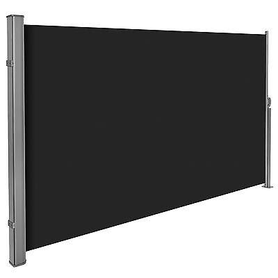 Seitenmarkise Sonnenschutz Sichtschutz Windschutz Alu Terrasse 180x300cm schwarz