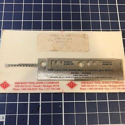 Vintage Grip Gauge Cherrylock And Cherrymax Rivet Slide Rule 269c3 Unopened