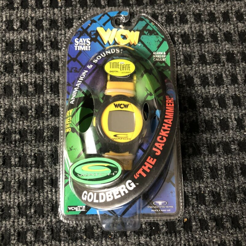NEW RARE TRENDMASTERS C-WATCH WCW GOLDBERG THE JACKHAMMER WRESTLING WATCH