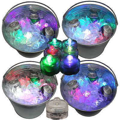 Holiday Party Beverage Ice Bucket Glow Lights LED Submersible 12 Color Changing