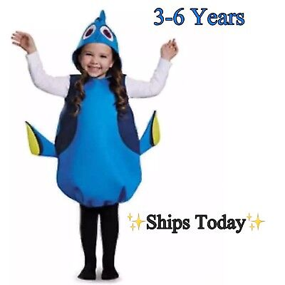 DORY Toddler Halloween Costume in Blue Fits Size: 3-6 Years (Dory Halloween-kostüm)