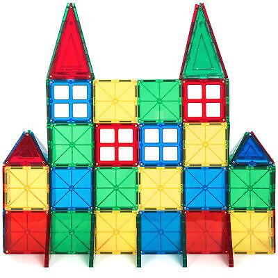 Piece Magnetic Building - BCP 60-Piece Kids Magnetic Building Tiles Toy Set w/ Carrying Case