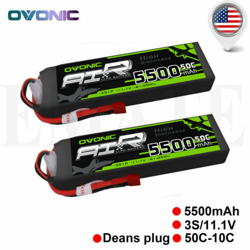 2 packs 11 1v 5500mah 50c rc