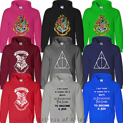 HOGWARTS HARRY POTTER LORD OF THE RINGS JEDI STAR WARS GRYFFINDOR UNISEX HOODY