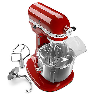 مضرب كهربائي جديد New KitchenAid HEAVY DUTY pro 500 Stand Mixer Lift ksm500pser All Metal 5-qt Red
