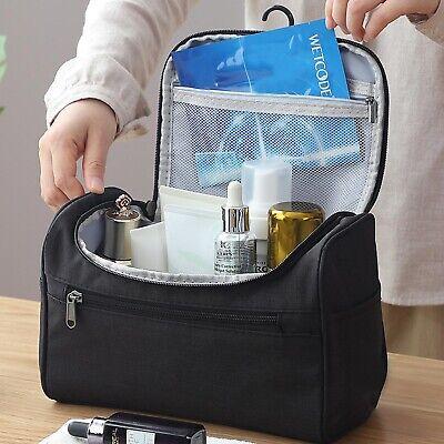 Mens Travel Wash Bag Hanging Toiletry Large Capacity Shaving Gym Makeup Bag UK