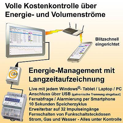 Datenlogger für Stromzähler (mit S0 Anschluss) S0 Datenlogger für PC