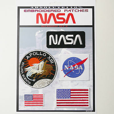 NASA APOLLO Astronaut Patches - Iron-On Patch Mega Set #44 - FREE POST